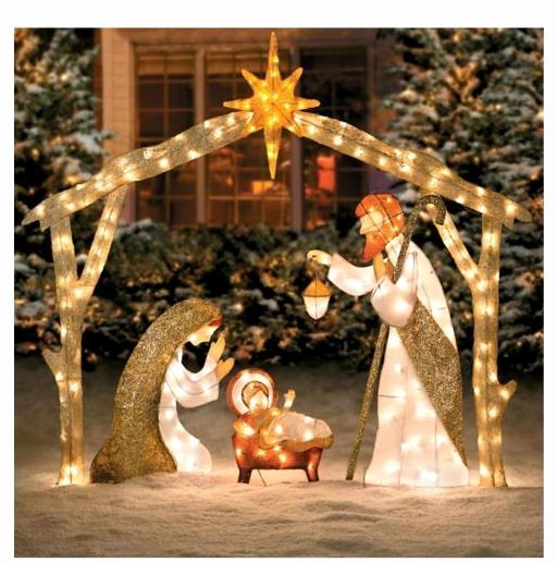 Free Outdoor Nativity Scene Patterns New Beautiful Lighted Outdoor Nativity Scene Lights Up A Yard
