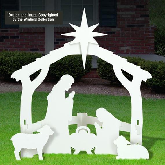 Free Outdoor Nativity Scene Patterns Unique White Outdoor Nativity Scene