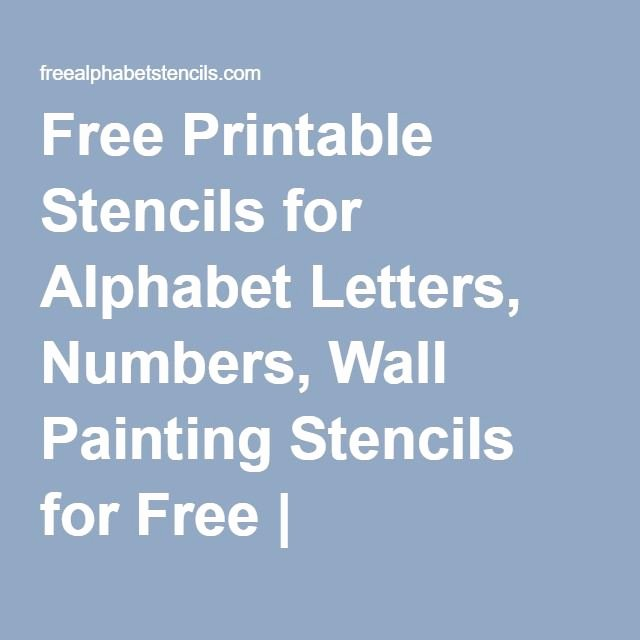 Free Paint by Numbers Templates Best Of Free Printable Stencils for Alphabet Letters Numbers