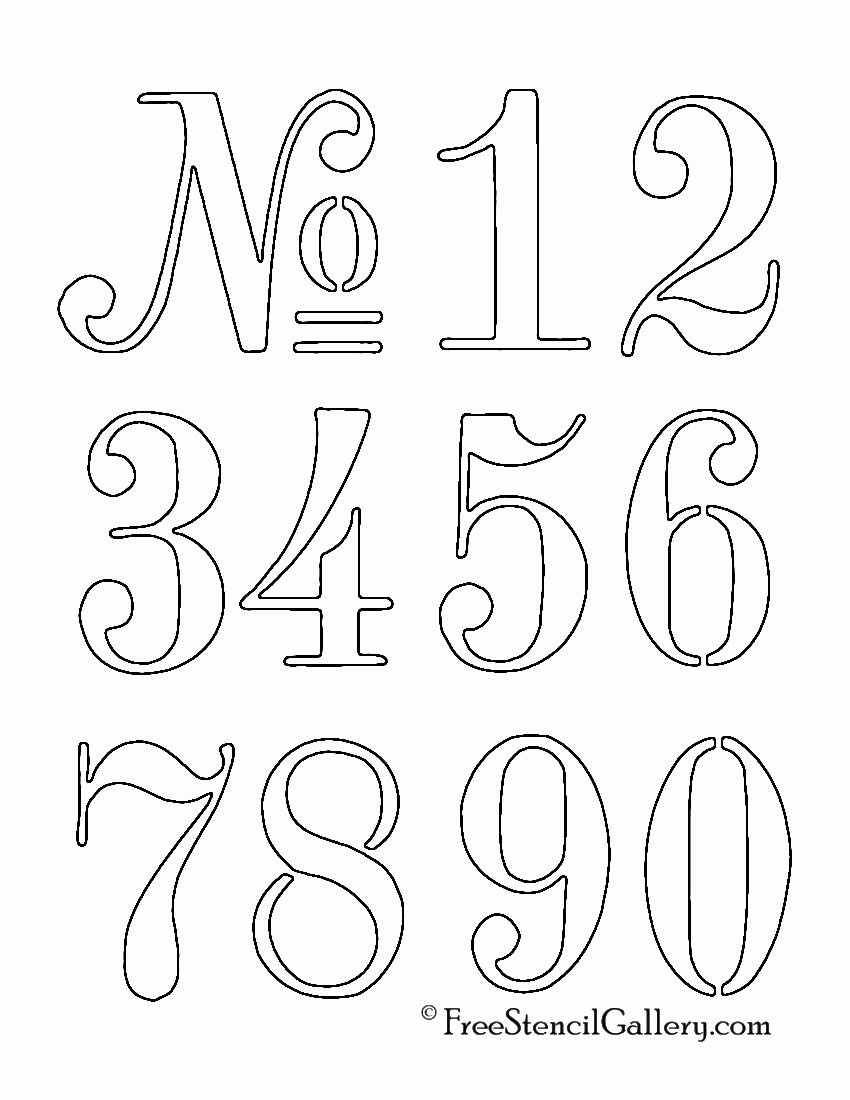 Free Paint by Numbers Templates Elegant Numbers Stencil