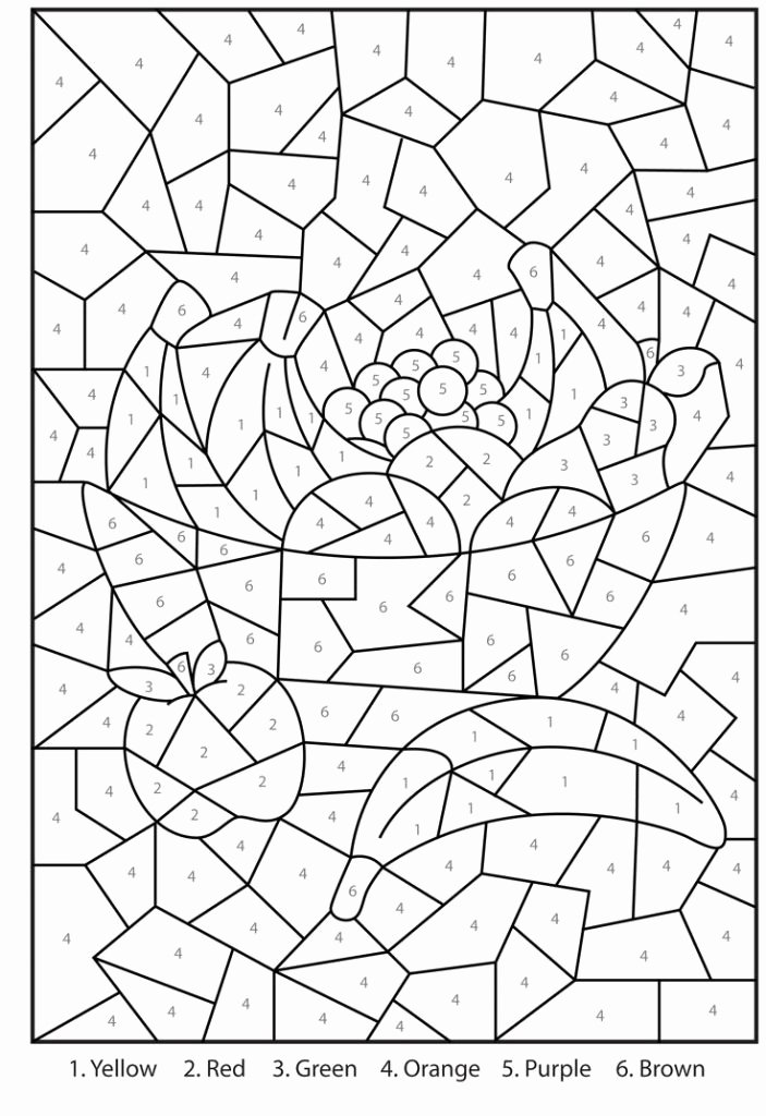 Free Paint by Numbers Templates Inspirational Free Printable Color by Number Coloring Pages Best