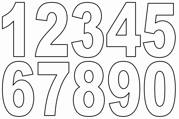 Free Paint by Numbers Templates New Number Stencils Printable Printable Pages