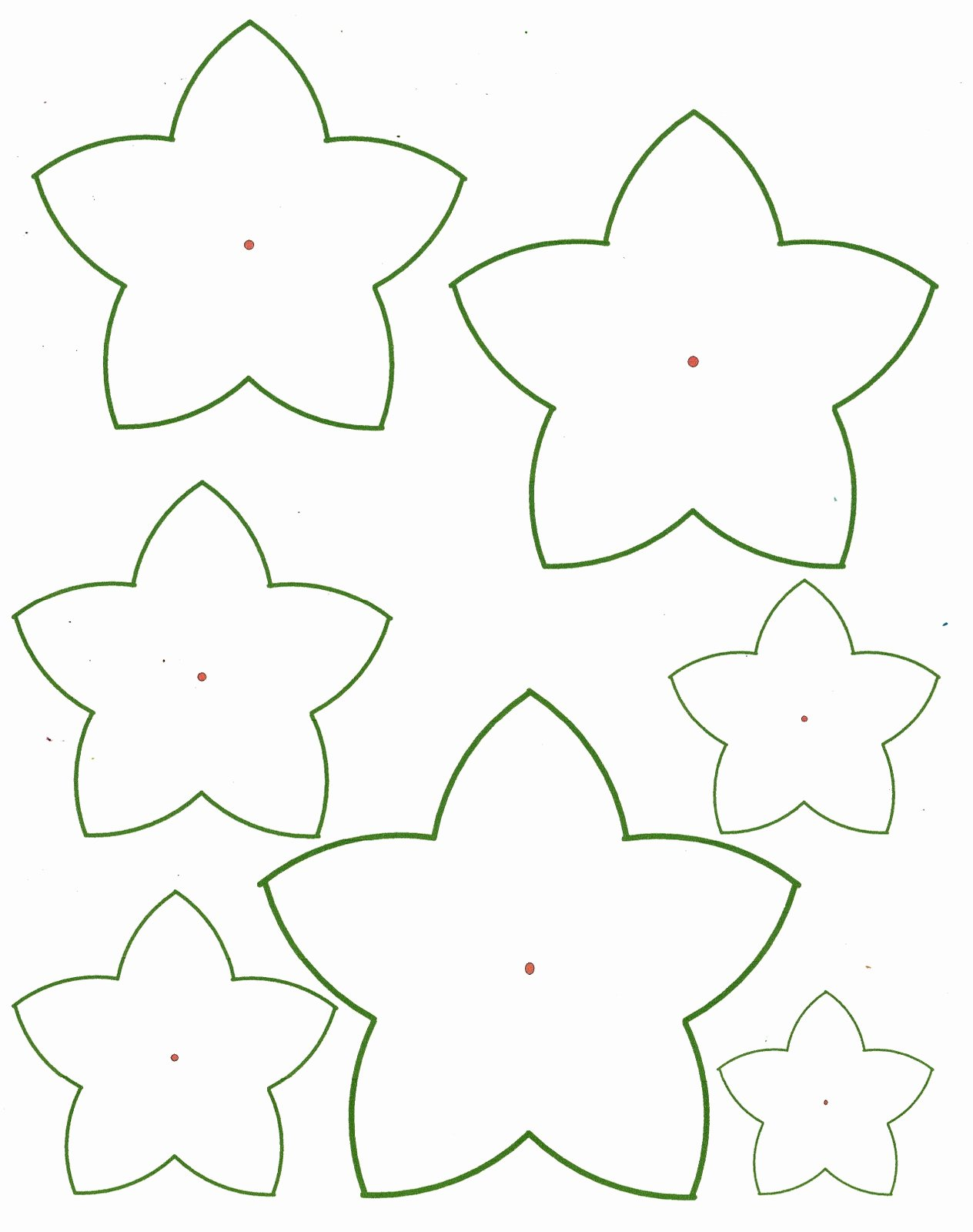 Free Paper Flower Patterns Beautiful Paper Flower Templates