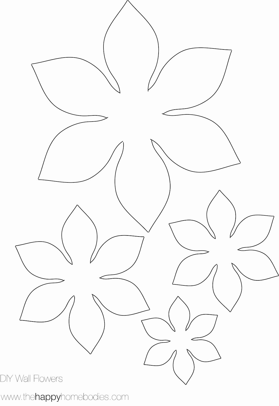Free Paper Flower Patterns Fresh Flower Template On Pinterest