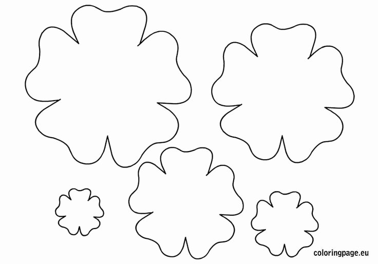 Free Paper Flower Patterns Inspirational Flower Template Printable Spring Pinterest