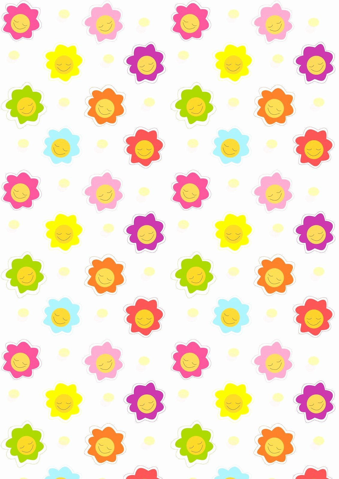 Free Paper Flower Patterns Lovely Free Digital Smiling Scrapbooking Paper Ausdruckbares