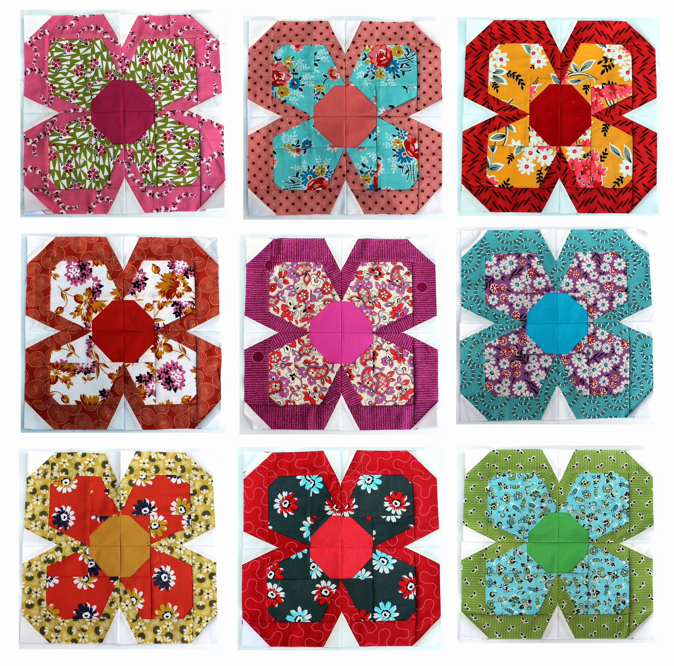 Free Paper Flower Patterns Lovely Zakka Flower Block