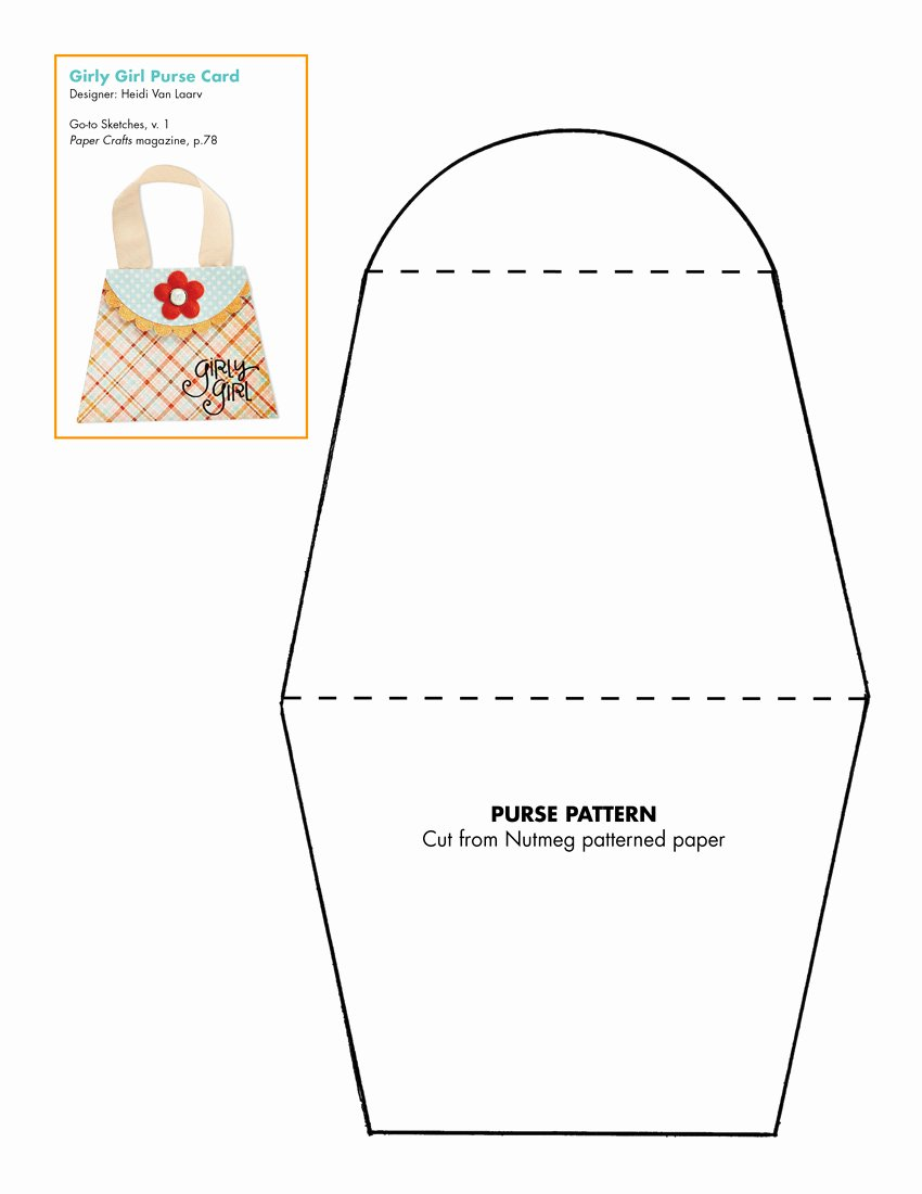Free Paper Purse Template Printable Best Of Go to Sketches Patterns Go to Sketches