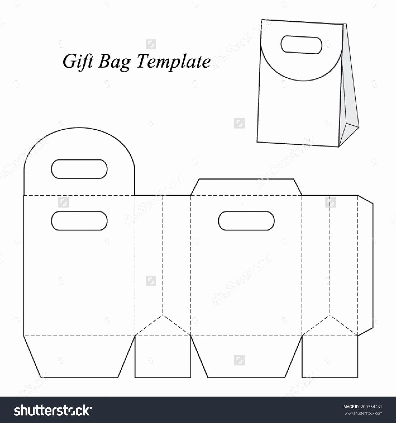 Free Paper Purse Template Printable Lovely Image Result for Gift Bag Template Cricut