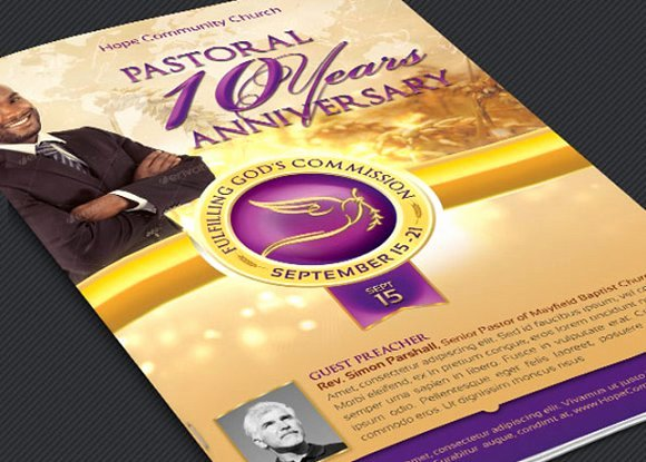 Free Pastor Anniversary Program Template Awesome Clergy Anniversary Service Program Templates Creative
