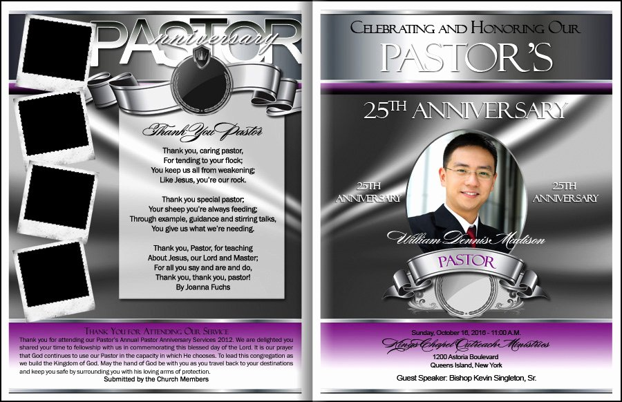 Free Pastor Anniversary Program Template Beautiful Prestigious Pastor Anniversary Program