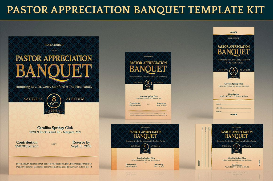 Free Pastor Anniversary Program Template Best Of Pastor Appreciation Template Kit On Behance