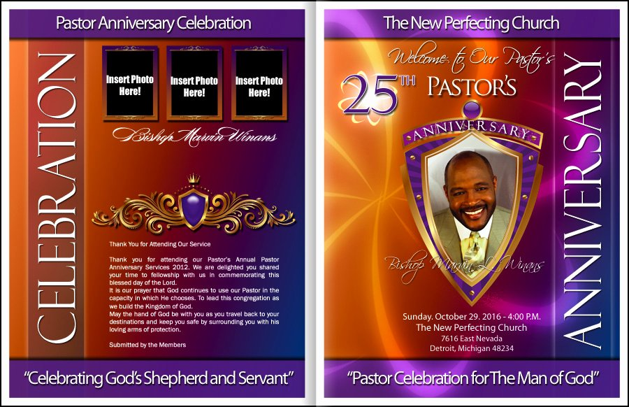 Free Pastor Anniversary Program Template Elegant Divine Pastor Anniversary Program