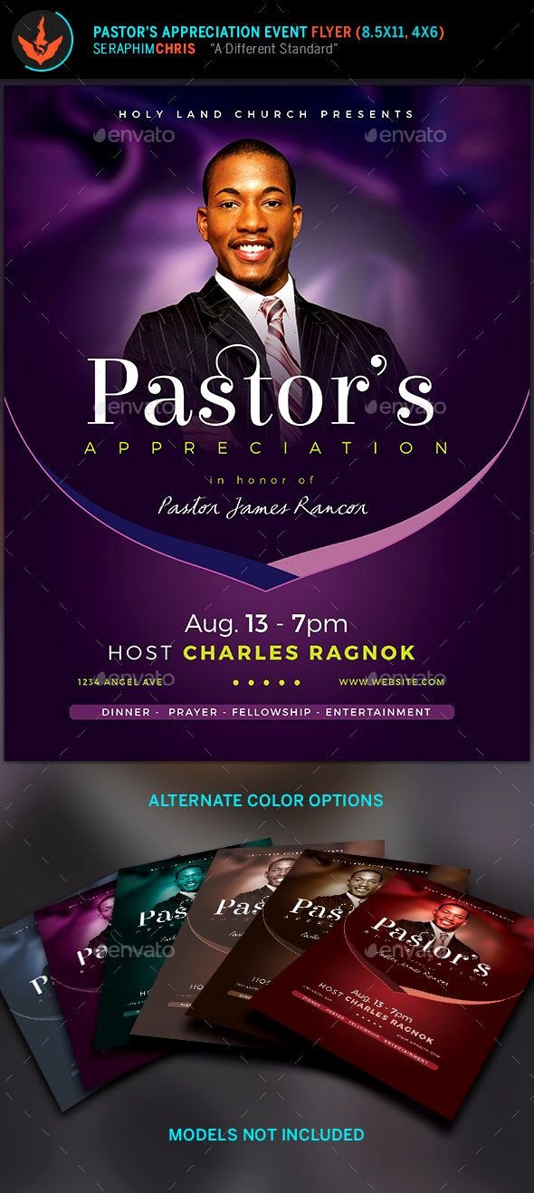 Free Pastor Anniversary Program Template Elegant Lavender Pastor S Appreciation Church Flyer This Church