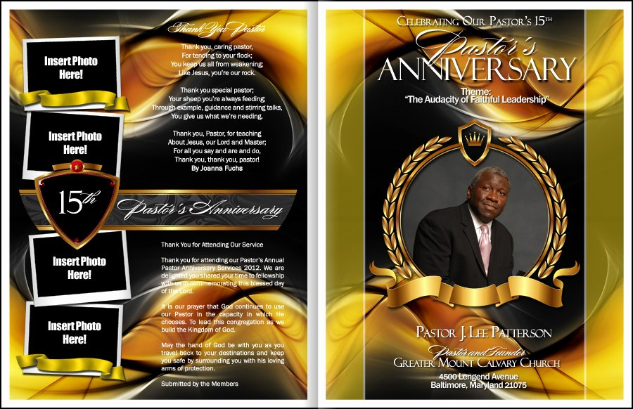 Free Pastor Anniversary Program Template Elegant Sacrament Pastor Anniversary Program