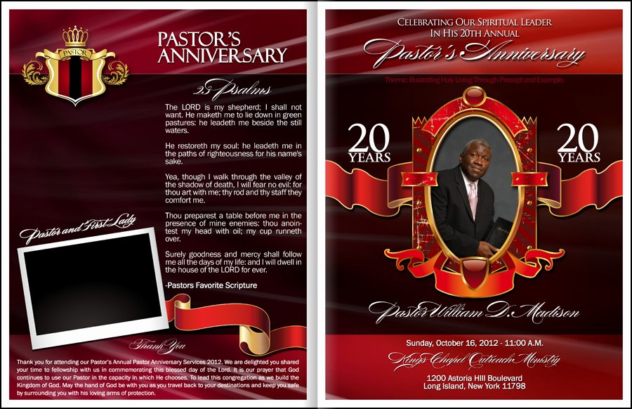 Free Pastor Anniversary Program Template Fresh Pastor and Wife Anniversary Program