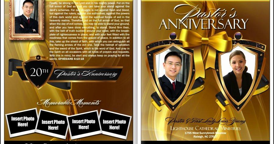 Free Pastor Anniversary Program Template Fresh Pastor Anniversary Pastor Anniversary Programs