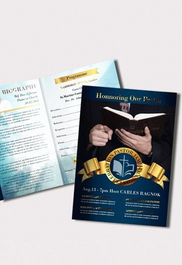 Free Pastor Anniversary Program Template Inspirational Pastor Anniversary Free Brochure Program – by Elegantflyer