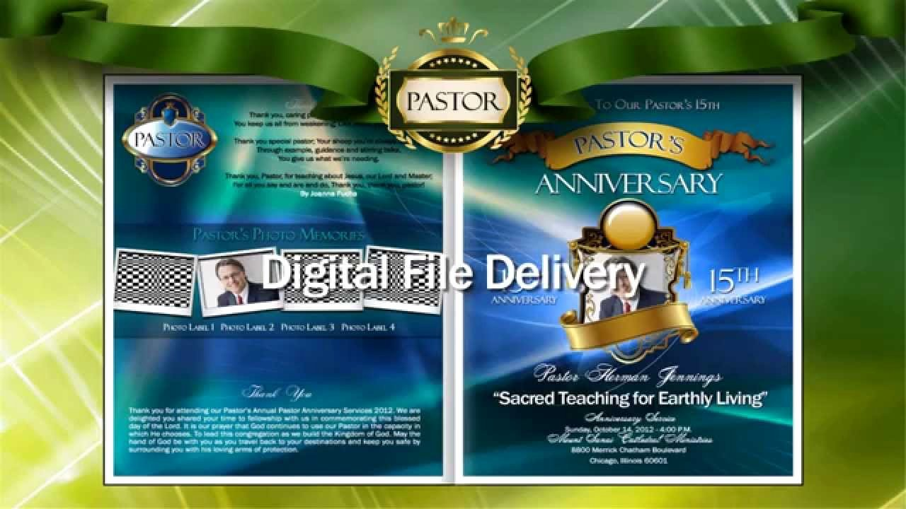 Free Pastor Anniversary Program Template Inspirational Pastor Anniversary Program