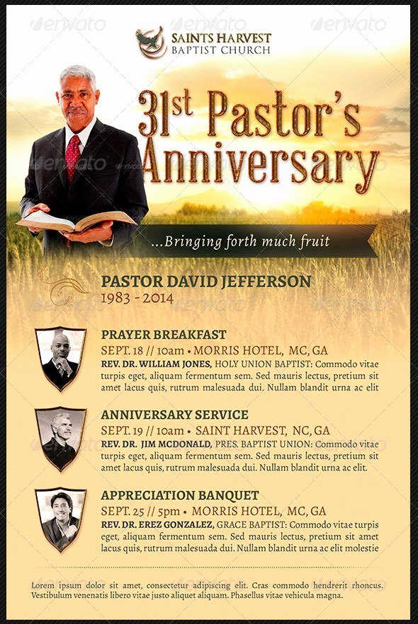 Free Pastor Anniversary Program Template Unique Pastor Appreciation Flyer Templates