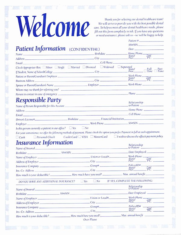 Free Patient Information form Template Luxury 5 Things to Bring to Your First Dental Visit Peacock Dental