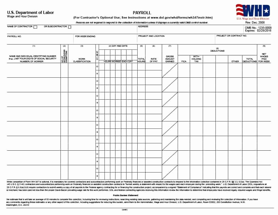 Free Payroll Template Best Of 40 Free Payroll Templates & Calculators Template Lab