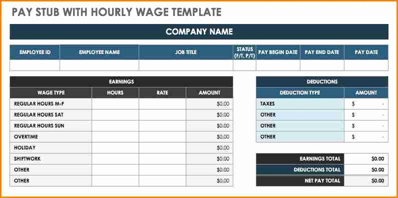 Free Payroll Template Elegant 6 Free Pay Stub Template Excel