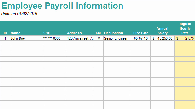 Free Payroll Template Luxury 10 Useful & Free Payroll Templates
