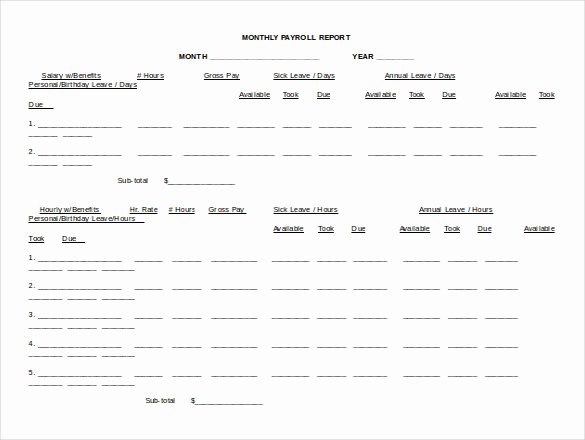 Free Payroll Template Luxury 15 Word Payroll Templates Free Download
