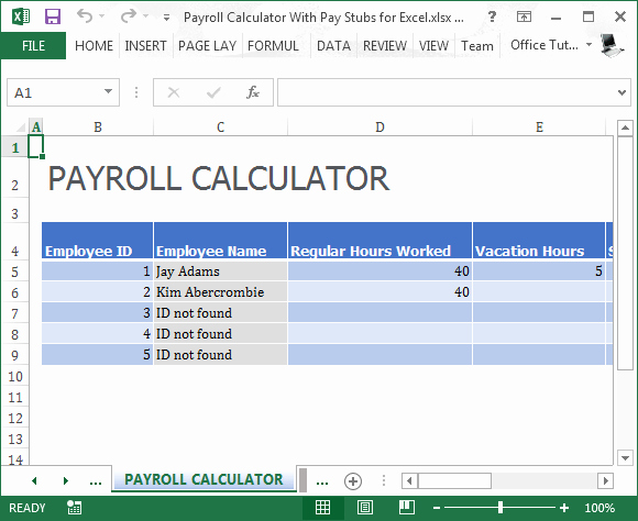 Free Payroll Template Luxury 19 Free Payroll Template Word Excel formats