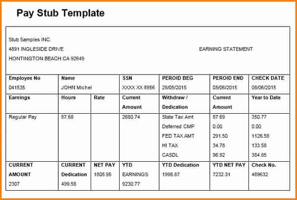 Free Payroll Template Unique 6 Free Editable Pay Stub Template