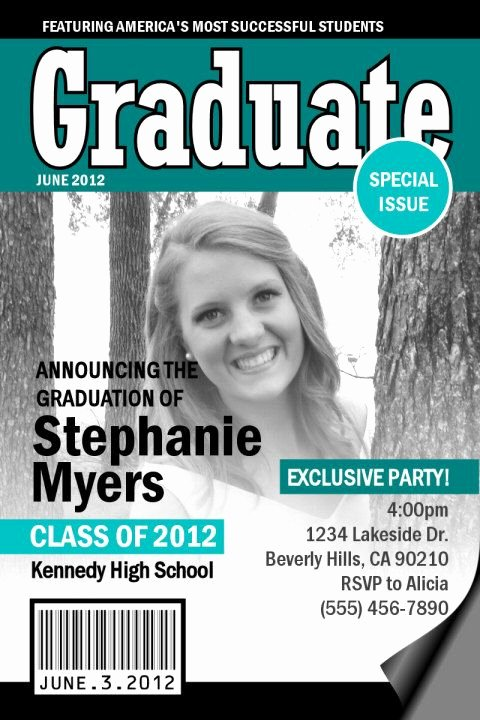 Free Personalized Magazine Covers Templates Awesome 17 Best Images About Graduation Cards On Pinterest