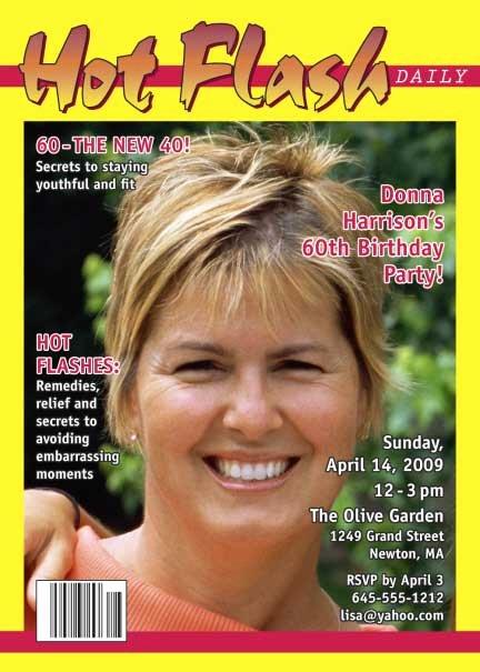 Free Personalized Magazine Covers Templates Elegant Birthday Hot Flash Magazine Cover Invitation