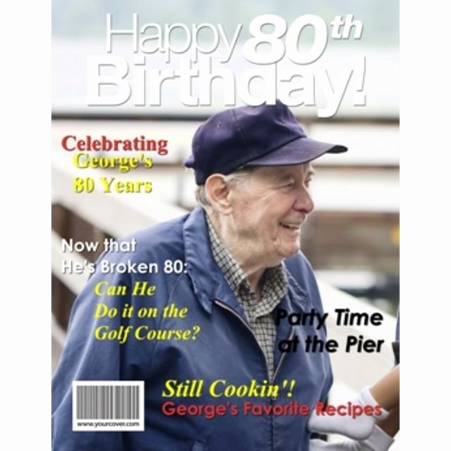 Free Personalized Magazine Covers Templates Lovely 35 Best Dad S 80th Birthday Party Ideas Images On