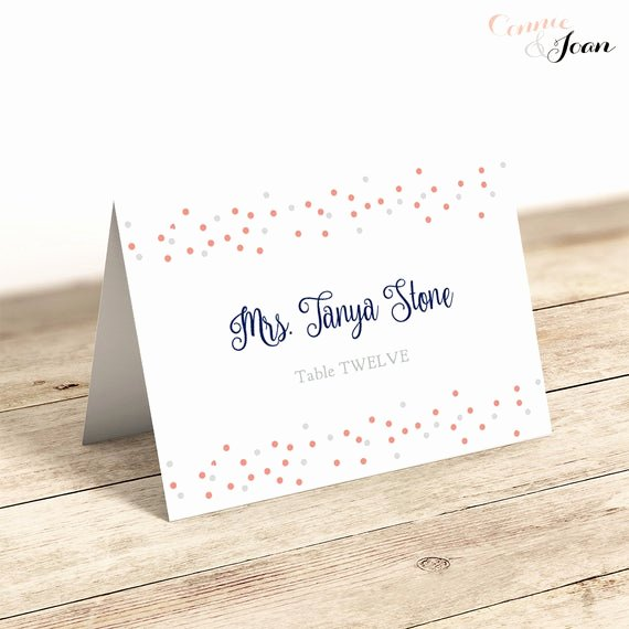 Free Place Card Template 6 Per Sheet Lovely Wedding Flat & Folded Place Card Printable Template Printable