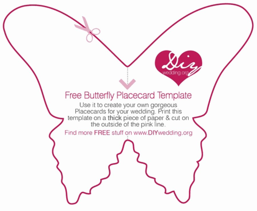 Free Place Card Template 6 Per Sheet Luxury Free Diy butterfly Placecard Template