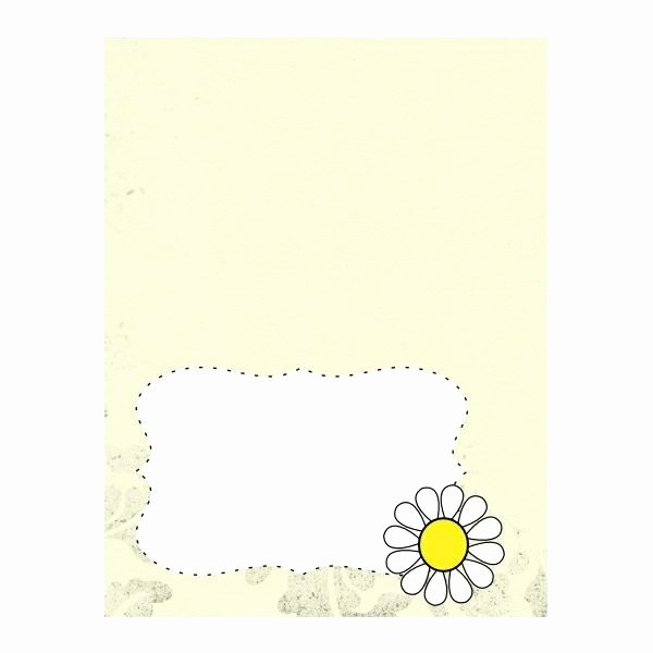 Free Place Card Template 6 Per Sheet New Free Place Cards with Daisy Design Five top Templates to