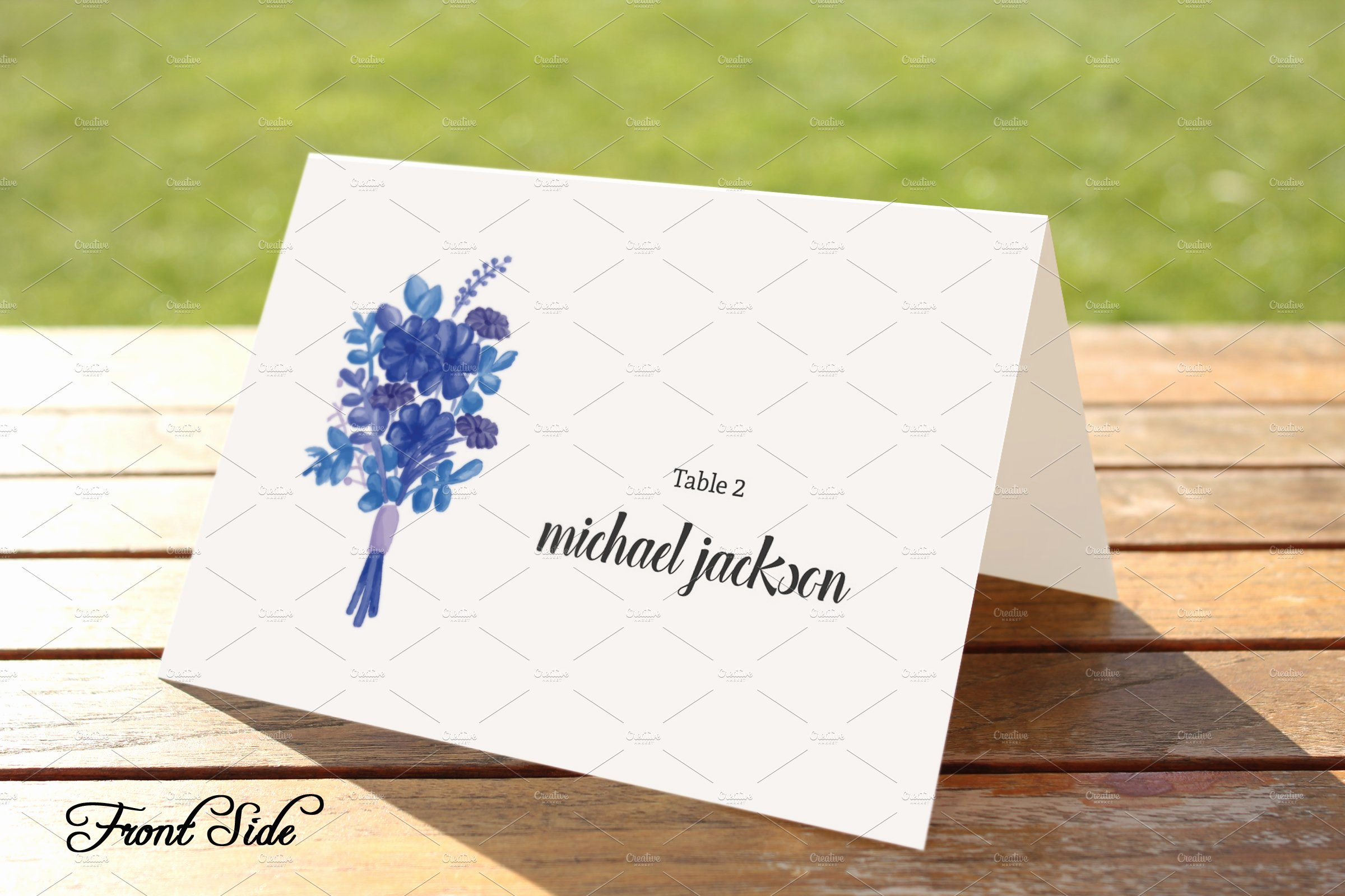 Free Place Card Template 6 Per Sheet Unique Wedding Place Card Template Card Templates Creative Market