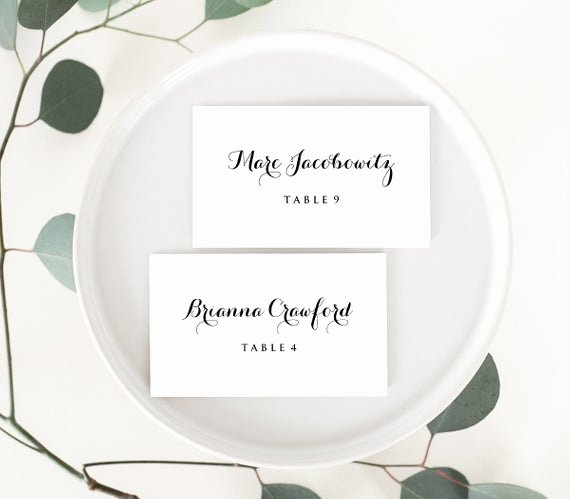 Free Place Card Template 6 Per Sheet Unique Wedding Place Card Template Printable Escort Card Name Card