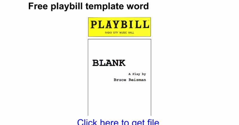 Free Playbill Template Awesome Blank Playbill Template Free Playbill Template Word Google