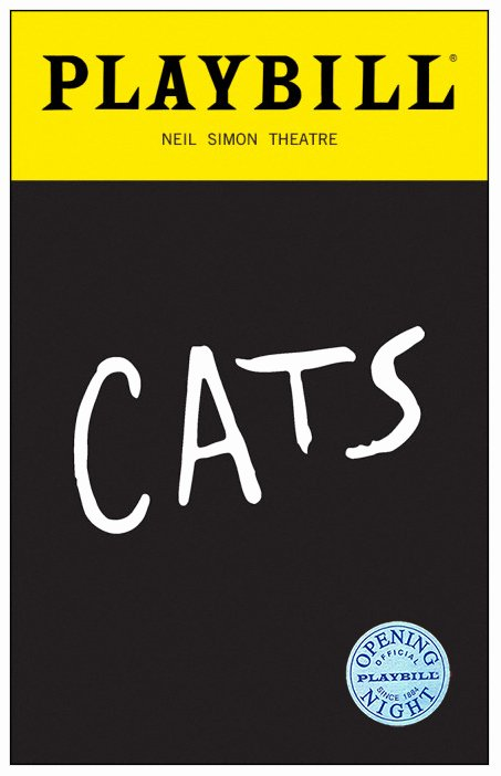 Free Playbill Template Elegant Cats the Musical Limited Edition Ficial Opening Night