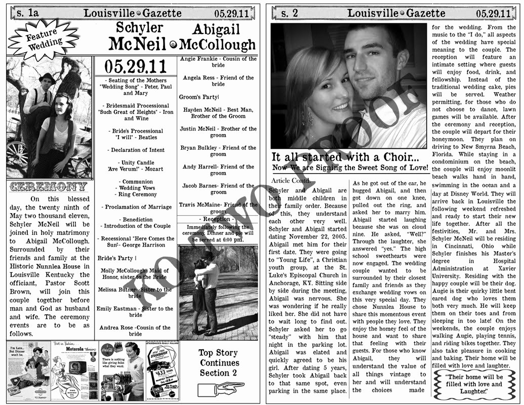 Free Playbill Template Unique Free Playbill Style Wedding Program Template