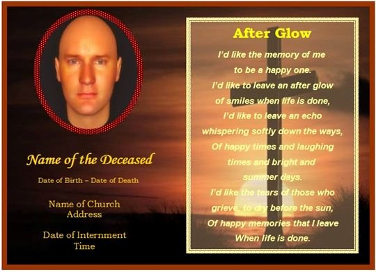 Free Prayer Card Template for Word Beautiful Memorial Card Template Free