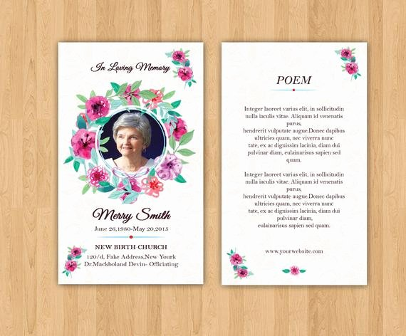 Free Prayer Card Template for Word Fresh Funeral Prayer Card Template Editable Ms Word & Shop