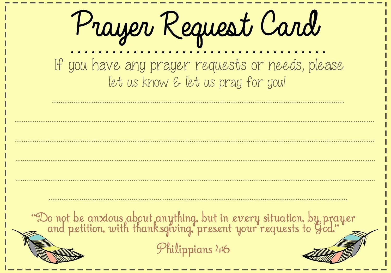Free Prayer Card Template for Word Fresh Prayer Request Card Idea Mops Pinterest