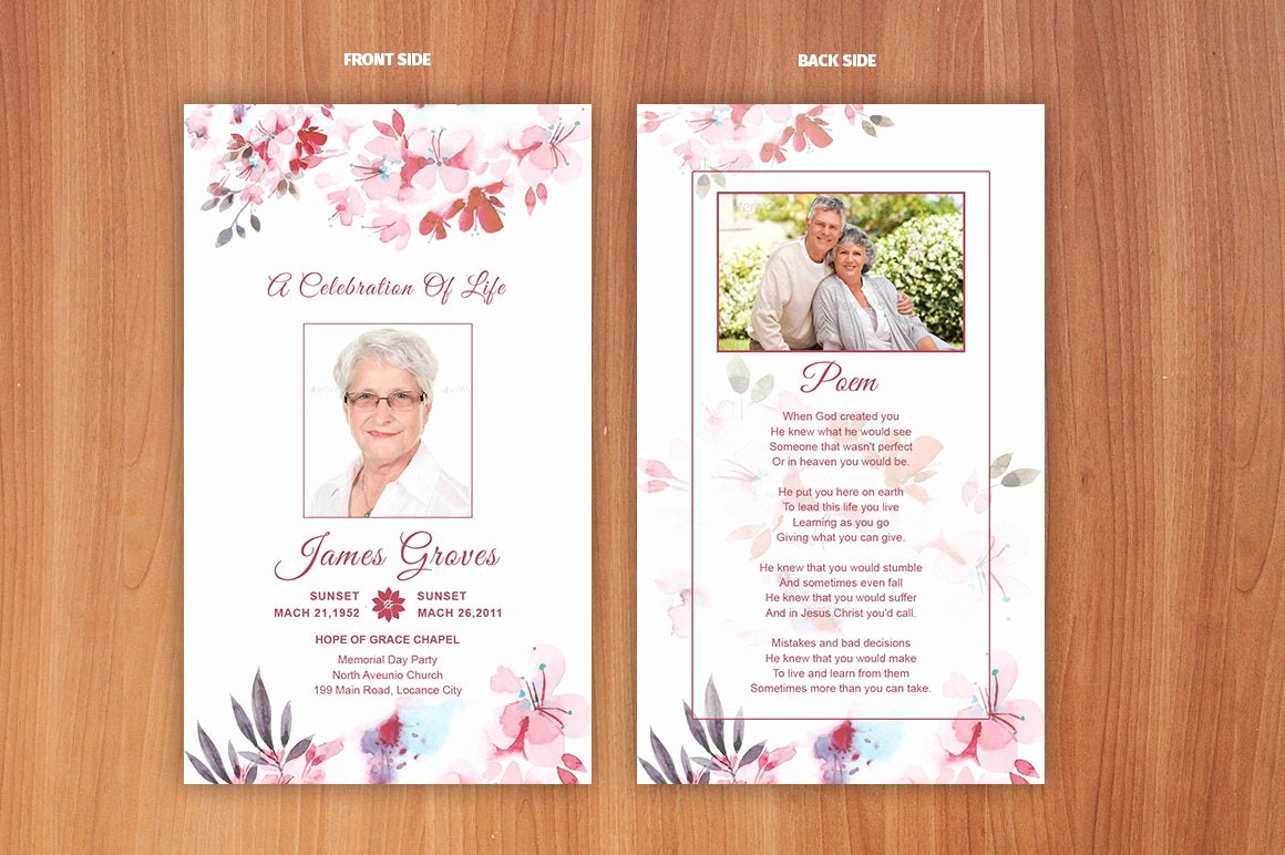Free Prayer Card Template for Word New Funeral Prayer Card Template Editable Ms Word & Shop