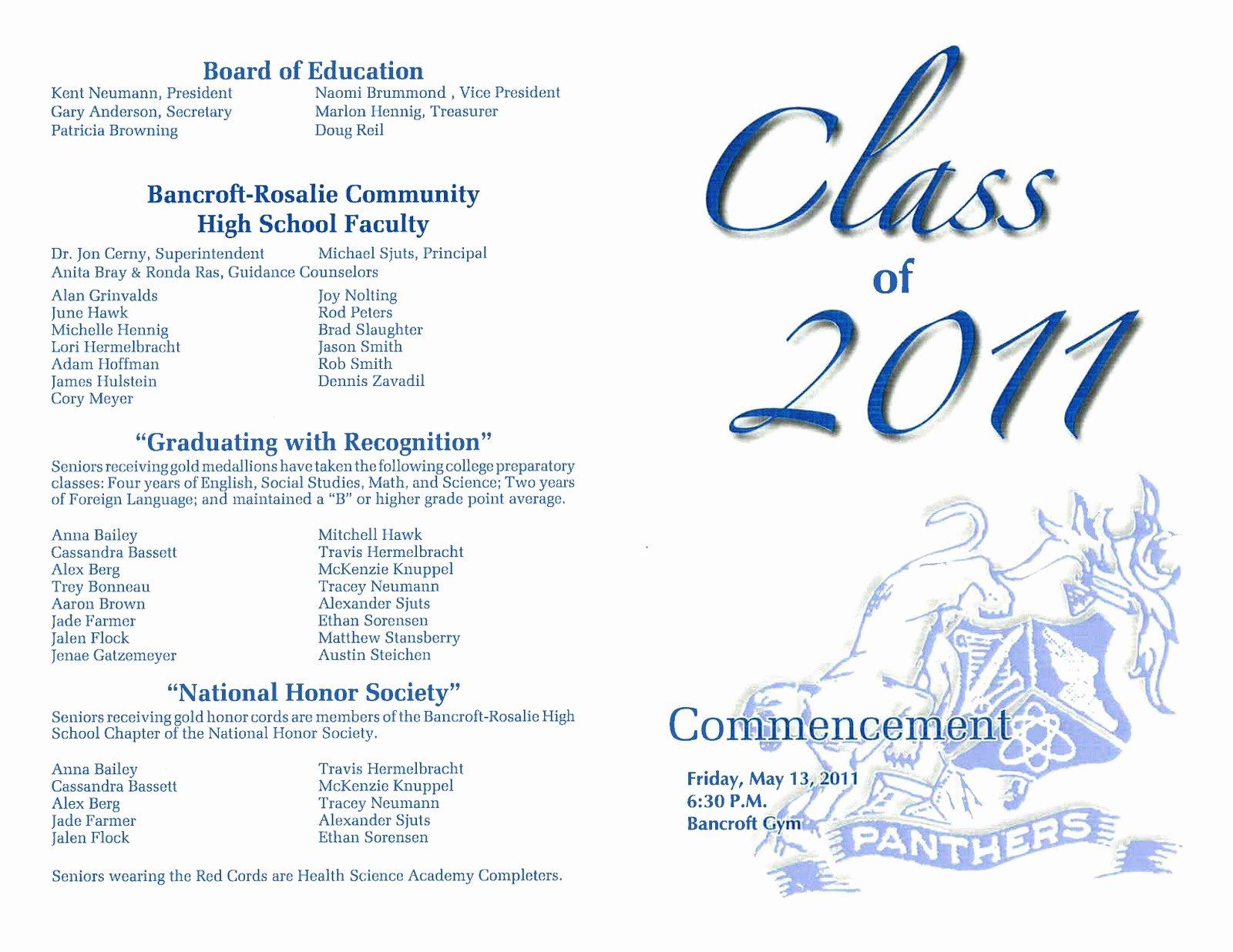 Free Preschool Graduation Program Template Awesome Dr Cerny S B R Hype Graduation tonight