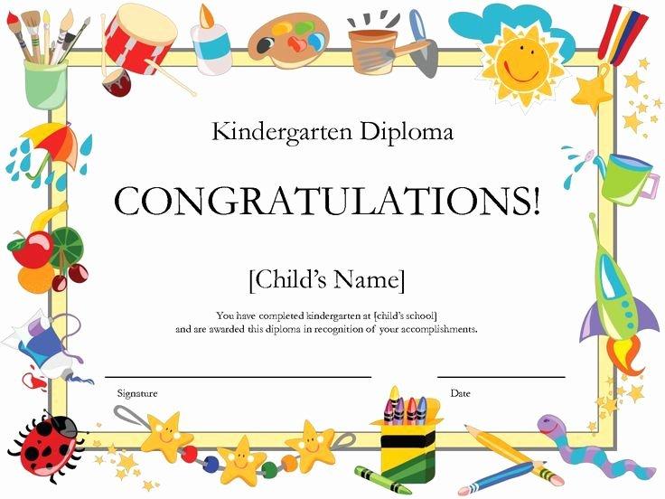 Free Preschool Graduation Program Template Elegant Kindergarten Graduation Certificate