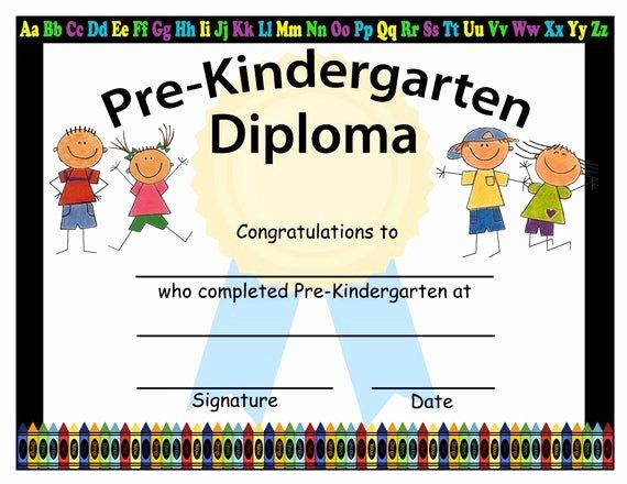 Free Preschool Graduation Program Template Elegant Pre Kindergarten Graduation Diplomas Blank Graduation