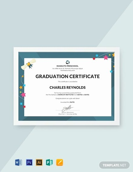 Free Preschool Graduation Program Template Inspirational Free Preschool Graduation Certificate Template Download